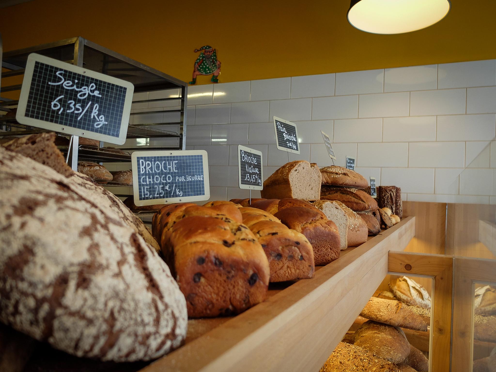 Chaque semaine, dix-huit variétés de pains au compteur, dont des pains sans gluten.